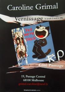 Affiche expo au salon Côté Passage